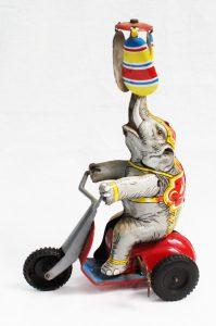 1949 tin Circus tricycle Elephant