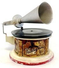 Antique Litho Tin Phonograph Kiddyphone